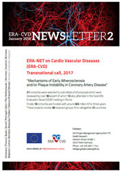 ERA-CVD Newsletter 2, January 2018